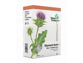 Naturprodukt Silymarin Forte 3 - Játra + Oxidační stres 40 tbl.