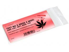 Test na 5 drog z moči - amp, coc, met, mor, thc