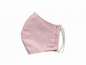 TNG Rouška textilní 3-vrstvá, růžová, velikost M 1 ks