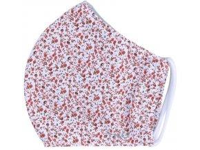TNG Antibakteriální obličejová rouška z NANO materiálu, květiny, velikost M 1 ks