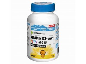Naturevia Vitamín D3-Efekt KIDS 600 IU 60 tbl.