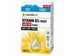 Naturevia Vitamín D3-Efekt 400 IU kapky 10,8 ml