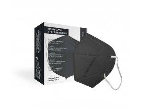 Tex-Tech Respirátor FFP2 Premium - černý 5 ks