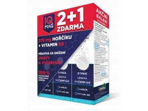 IQ Mag hořčík 375 mg + B6 šumivé tablety 20 tbl. 2+1 ZDARMA