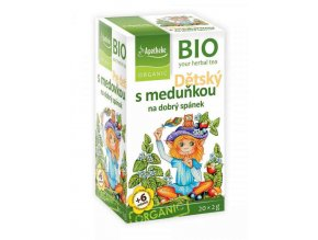 Apotheke Bio Dětský ovocný s meduňkou 20x2g
