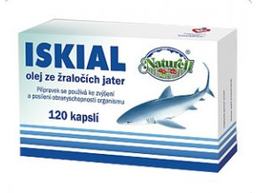 Naturell Iskial olej ze žraločích jater 120 kapslí