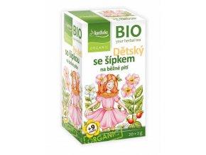 Apotheke Bio Dětský ovocný se šípkem na běžné pití 20x2g