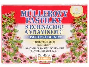 Dr. Muller Müllerovy pastilky s echinaceou a vitamínem C 12ks