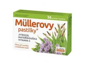 Dr. Muller Müllerovy pastilky s jitrocelem + mateřídouškou 24ks