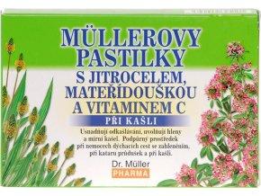 Dr. Muller Müllerovy pastilky s jitrocelem + mateřídouškou 12ks