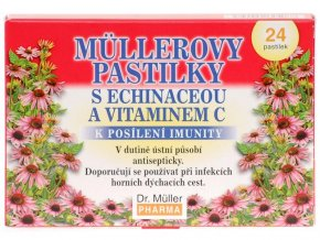 Dr. Muller Müllerovy pastilky s echinaceou a vitamínem C 24ks