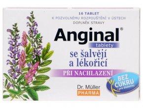 Dr. Muller Anginal tablety se šalvějí a lékořicí 16 tbl. DMT: 31.10.2021