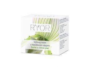 Ryor Výživný krém s mandlovým olejem pro suchou a citlivou pleť 50 ml