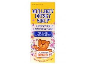 Dr. Muller Müllerův dětský sirup s jitrocelem a mateřídouškou 130g