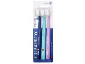 Curaprox Jemný zubní kartáček 1560 Soft 3 ks
