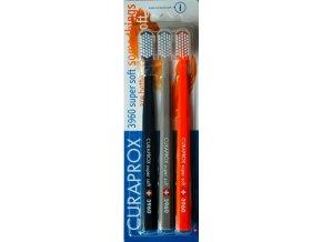 Curaprox Extra jemný zubní kartáček 3960 Super Soft 3 ks