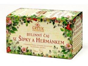 Grešík Se šípky a heřmánkem bylinný čaj n.s. 20x1.5g