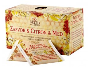 Grešík Zázvor & Citrón & Med bylinný čaj n.s. 20x2g
