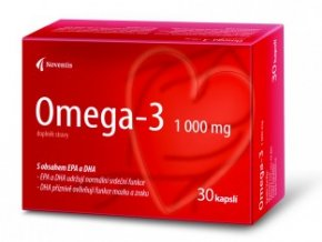 Noventis Omega-3 1000 mg pro zdravé srdce a cévy 30 kapslí