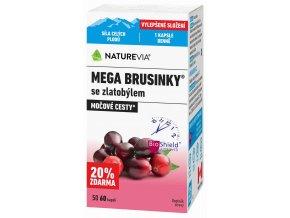 Naturevia Mega Brusinky 500 mg 60 kapslí