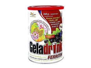 Orling Geladrink Ferritin nápoj Černý rybíz 360 g