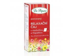 Dr. Popov Relaxační čaj s meduňkou a třapatkou porcovaný 30 g