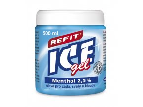 REFIT ICE gel Menthol 2,5 % 500ml