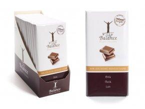 Balance mléčná čokoláda bez přidaného cukru 100g