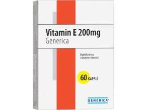 Generica Vitamin E 200 mg 60 kapslí