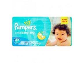 PAMPERS Active Baby VVP 4+ Maxi Plus 9-16kg 53 kusů