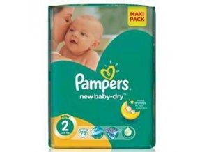 PAMPERS New Baby 2 Mini 3-6kg 76 kusů