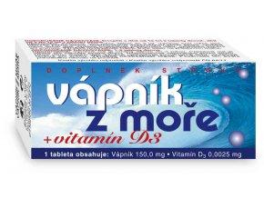 Naturvita Vápník z moře + Vitamín D3 60 tbl.