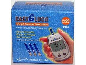 Testovací proužky pro glukometr EasyGluco 50 ks