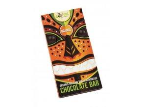 Lifefood Bio Živá čokoláda pomerančová Raw 70 g