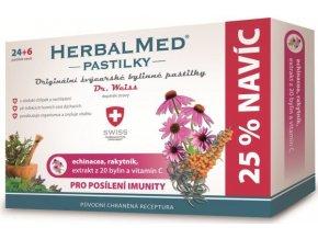 HerbalMed pastilky Dr. Weiss pro posílení imunity 24 pastilek +6 pastilek ZDARMA