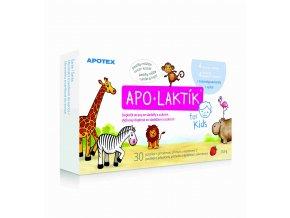 Apotex Apo-Laktík žvýkací pastilky s jahodovou příchutí a vitaminem C 30 ks