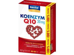 Revital Koenzym Q10 30 mg + vitamin E + selen 30 kapslí + 30 kapslí ZDARMA