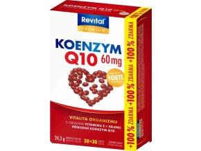 Revital Koenzym Q10 60 mg + vitamin E + selen 30 kapslí + 30 kapslí ZDARMA