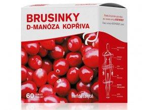 Nefdesanté Brusinky D-Manóza Kopřiva 60 tbl.