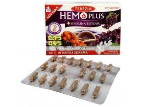 Terezia Hemo Plus + kyselina listová 50 kapslí + 10 kapslí ZDARMA