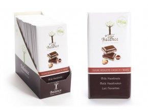 Balance mléčná čokoláda se stévií bez přidaného cukru s lískovými oříšky 85 g