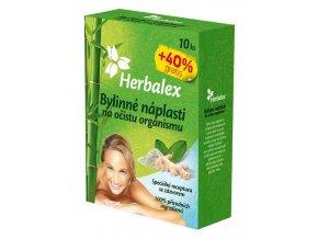 Herbalex - bylinné detoxikační náplasti 10 ks + 40% ZDARMA