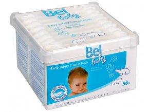 Bel Dětské vatové tyčinky Bel Baby (Baby Safety Cotton Buds) 56 ks