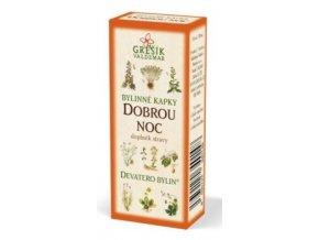 Grešík Dobrou noc bylinné kapky Devatero bylin 50 ml