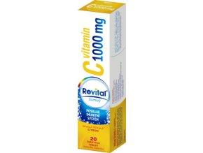 Revital Vitamin C 1000 mg s příchutí citrónu eff. tbl. 20