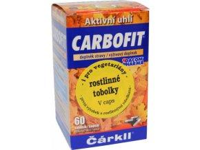 Dacom Pharma Carbofit - aktivované rostlinné uhlí v rostlinných tobolkách 60 ks