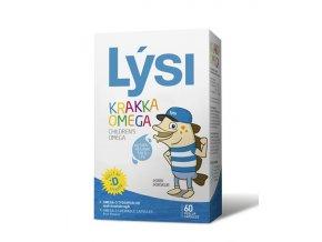 Lýsi Omega 3 žvýkací kapsle pro děti s vitamínem D 60 ks