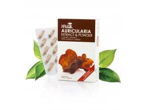 Hawlik Auricularia extrakt + prášek 120 kapslí