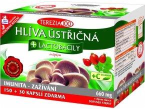 Terezia Hlíva ústřičná + laktobacily + vitamín C 150 kapslí + 30 kapslí