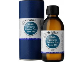Viridian 100% Organic Golden Flax Seed Oil 200 ml